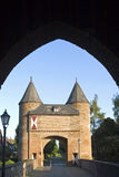 City gate Klever Tor, Xanten, Germany. In the historical small town Xanten there is situated, as a part of the city wall, the medieval Klever Tor [Gate], with Stock Photography