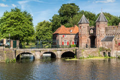 City gate Koppelpoort in Amersfoort, Netherlands Royalty Free Stock Photo