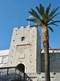 City gate of Korcula in Croatia Royalty Free Stock Image