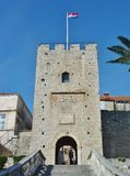 City gate of Korcula in Croatia Royalty Free Stock Photography