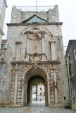 City gate of Korcula in Croatia Stock Photos