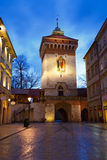 City gate in Krakow. Stock Photos