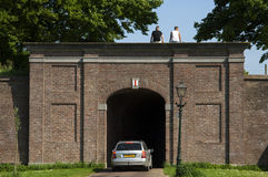 City gate Langepoort, city Brielle, Netherlands Royalty Free Stock Images