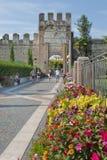 City gate of Lazise on Lake Garda - Italy Royalty Free Stock Image