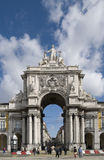 City Gate, Lisbon. The City Gate of Lisbon, with the main piazza behind Stock Photo