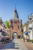 City gate in main street Elburg Royalty Free Stock Photography