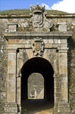 City gate of Medieval Fortress, city Valenca Stock Image