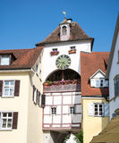 City Gate of Meersburg. Historic city gate of Meersburg at Lake Constance (Bodensee stock photo