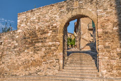 City gate in Montefalco, Italy Stock Photo