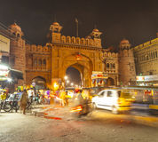 City gate in the old town of Bikaner in Rajasthan, India Royalty Free Stock Photo