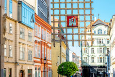 City gate in old town of Bratislava city Stock Images