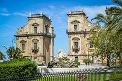 City gate Palermo. Historic city gate of Palermo, Sicily, Italy royalty free stock images