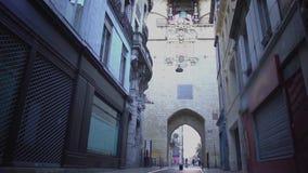 City gate Port Cailhau in Bordeaux, France, antique architecture, landmark. Stock footage stock video