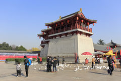 City gate tower of datang furong garden, adobe rgb Royalty Free Stock Images
