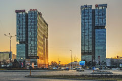 City Gate Towers, Bucharest Stock Image