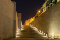 The city Gate of Valletta. The steps of the city gates in Valletta Malta Royalty Free Stock Image
