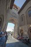 City Gates. The main entrance to the city. San Gimignano. Toscana, Italy Royalty Free Stock Photo