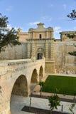 City gates, Mdina, Malta Stock Image