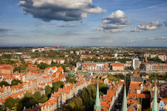 City Of Gdansk Aerial Cityscape Royalty Free Stock Images