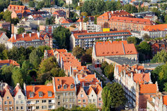 City of Gdansk Cityscape in Poland Royalty Free Stock Images