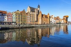 Colourful historic houses in Gdansk Old Town, Poland Royalty Free Stock Photography