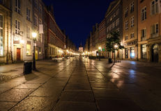 City of Gdansk in the early morning,. Poland, Europe Royalty Free Stock Photos
