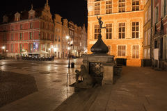 City of Gdansk by Night in Poland Royalty Free Stock Image