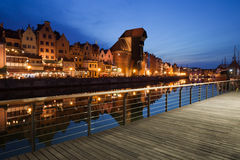 City of Gdansk at Night in Poland Royalty Free Stock Photo