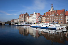 City of Gdansk Old Town River View Stock Photography