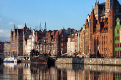 City of Gdansk Old Town Skyline Stock Photography