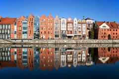 Gdansk City Riverside Houses Royalty Free Stock Images