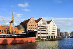 City of Gdansk Waterfront Stock Photography