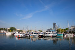 City of Gdynia Marina in Poland Royalty Free Stock Images