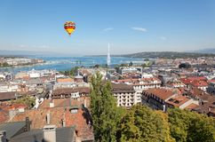 The city of Geneva in Switzerland, a aerial view Stock Images