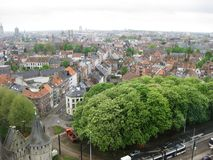 City of Gent in Belgium. An overview of the city of Gent in Belgium Stock Image
