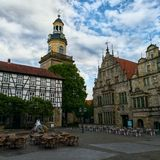 City Germany. Die Altstadt Rinteln Church royalty free stock photo