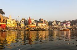 The city and the ghats of Varanasi Stock Images