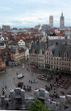 City of Ghent from above Stock Photography