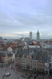 City of Ghent from above Royalty Free Stock Image