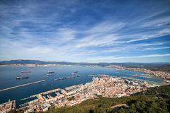 City Of Gibraltar Aerial View Stock Photography