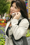 City girl. On phone Royalty Free Stock Image