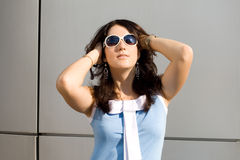 City girl in sunglasses Stock Photos