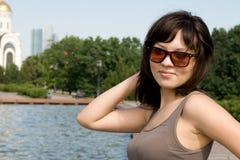 City girl walking outdoor Stock Image