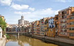 The city of girona Royalty Free Stock Images