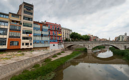 The city of Girona Catalonia Spain Royalty Free Stock Photos