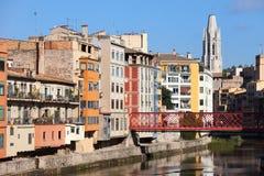 City of Girona Cityscape Stock Images