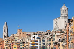 City of Girona Old Town Skyline Royalty Free Stock Photos