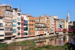 City of Girona Skyline in Spain Royalty Free Stock Photography