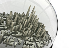 City in a globe Stock Photography