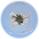 City in a globe stock image